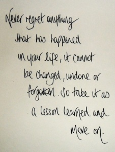 Απλώς...μαθαίνουμε από το παρελθόν και προχωράμε.!