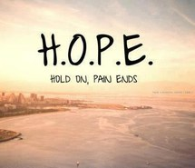 HOLD ON PAIN ENDS!!!