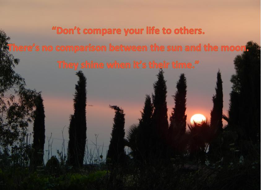 μη συγκρίνεις τον εαυτό σου με κανέναν